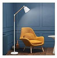 HN Lighting Ledフロアランプリビングルームソファベッドルームスタディ垂直テーブルランプ現代7ワット読書スタンディングライト (色 : 白)