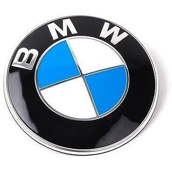 BMW純正部品 【 純正エンブレム 82mm 1個 ・ 純正グロメット 2個 】 セット 51148132375 [並行輸入品]