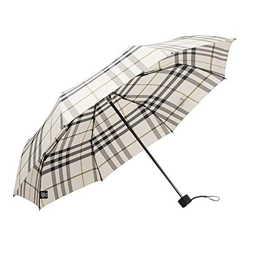 どうやらスライスやろう傘の男性と女性の雨と雨のデュアルユースマニュアル三つ折り傘