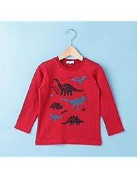 サンカンシオン(キッズ)(3can4on Kids) Tシャツ(【160cmまで】スタンプ風恐竜プリントTシャツ)