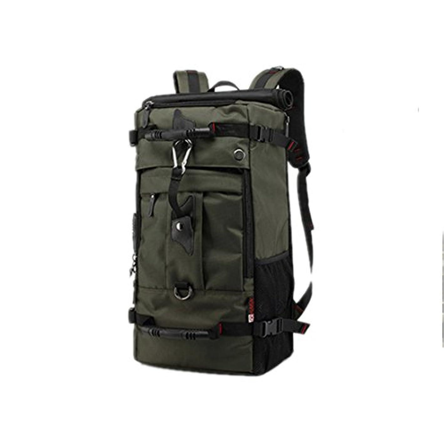 環境に優しい天窓難しいハイキング バックパック 40L -50L ウィークエンドパック 防水レインカバー&ラップトップコンパートメント付き - キャンプ 旅行 ハイキング用 3種類の用途