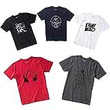 862934813b382 メンズ 半袖 Tシャツ 5枚組 3枚組 福袋 プリント 透けない 綿100