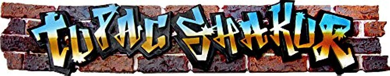 ボックス保証金樹皮Tupac Shakur - Graffiti Logo - Incense Burner by Square Deal Recordings & Supplies [並行輸入品]