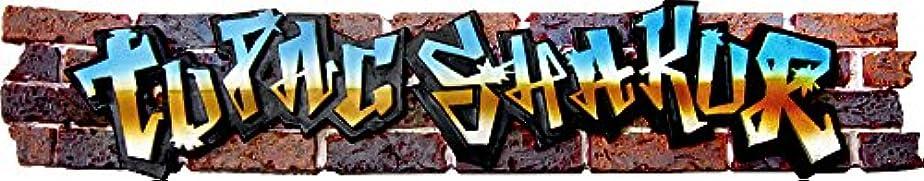 話エトナ山精神Tupac Shakur - Graffiti Logo - Incense Burner by Square Deal Recordings & Supplies [並行輸入品]