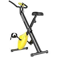 フィットネスバイク 折りたたみ 室内 家庭用 エクササイズバイク マグネット式 静音 ダイエットマシン ダイエット スピンバイク トレーニング イエロー wooztoo