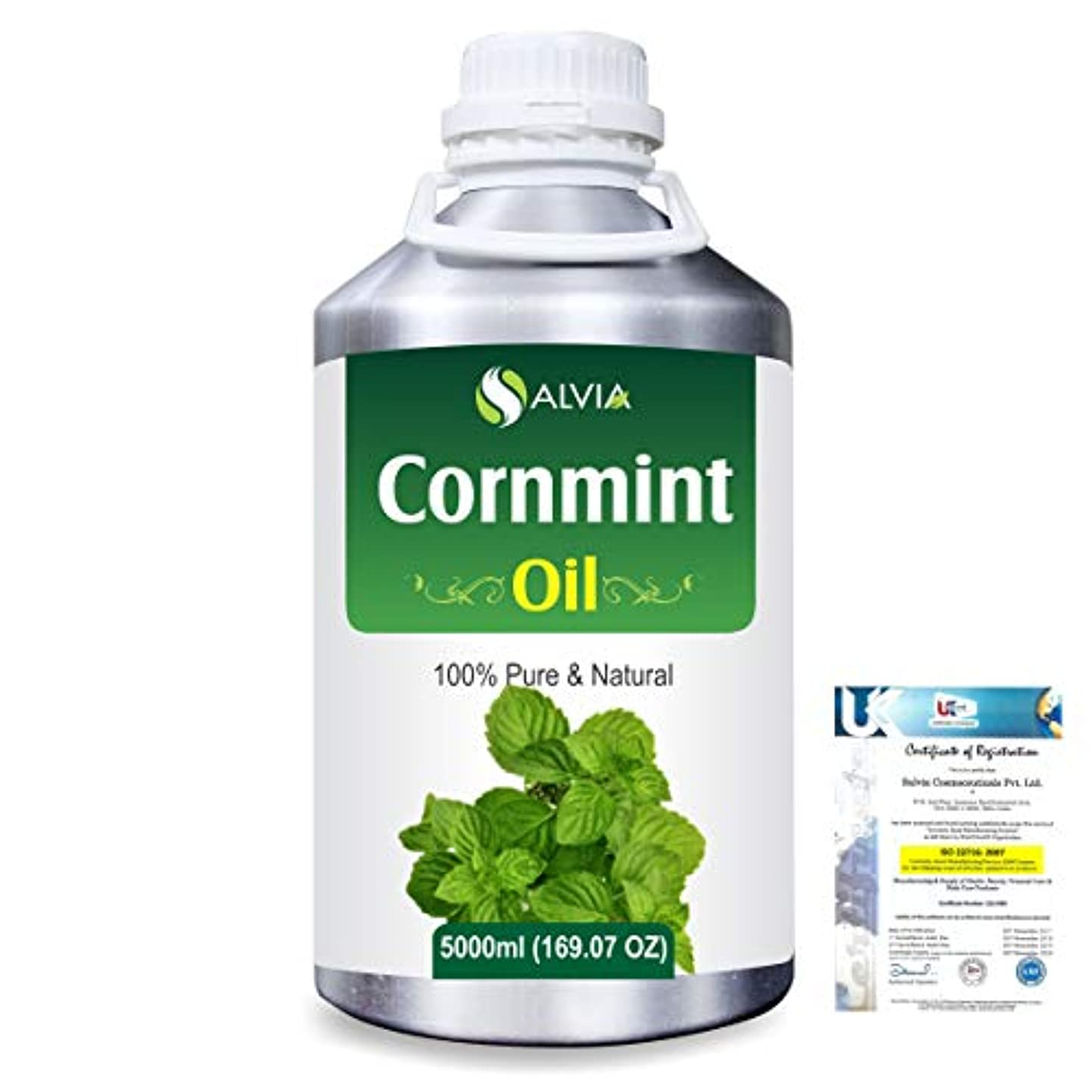 ちらつき前進貫通するCornmint Oil (Mentha arvensis) 100% Natural Pure Essential Oil 5000ml/169fl.oz.