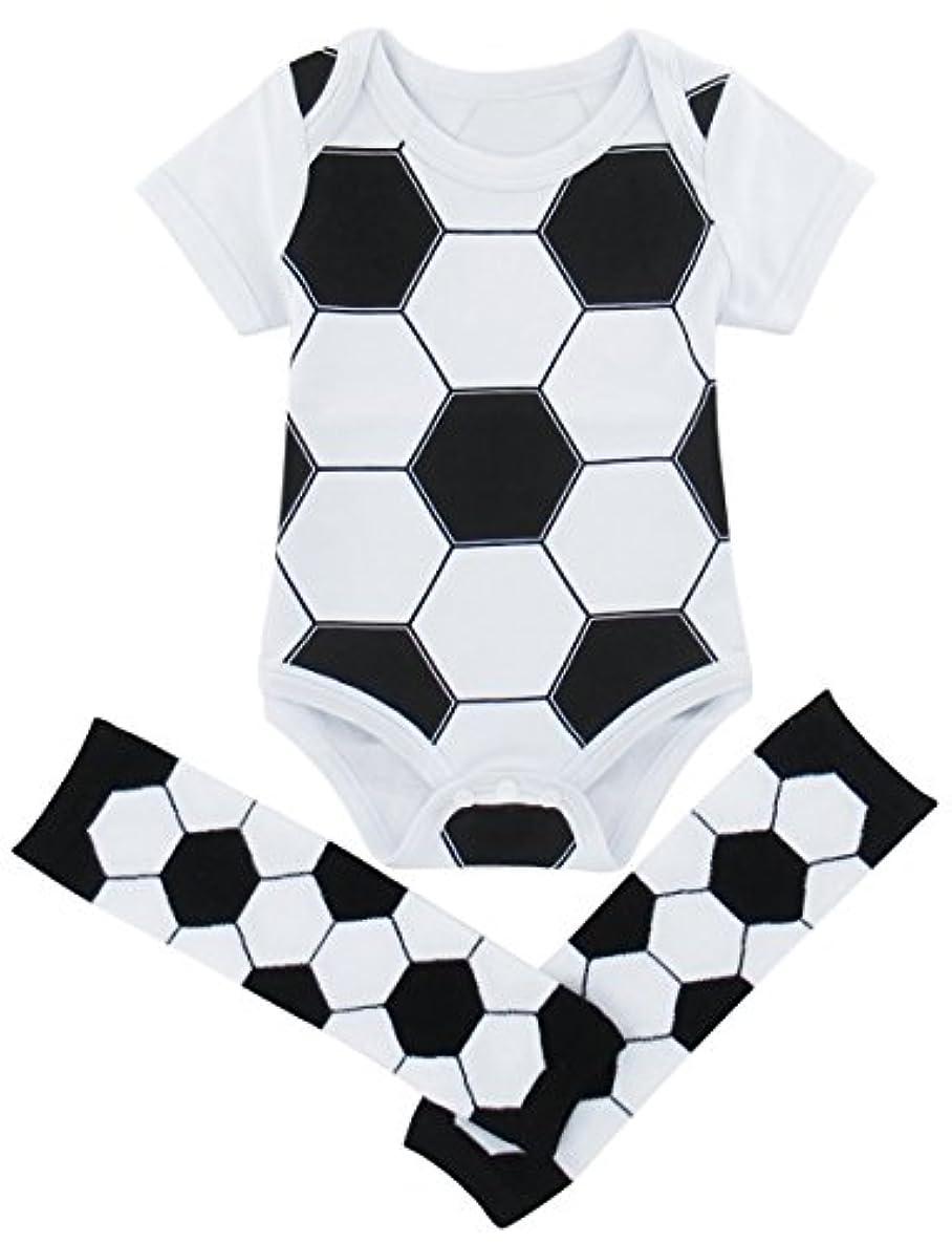 パンダデッドロック認めるBECOS ベビー ロンパース コスチューム 新生児 綿100 サッカー レッグウォーマー(サッカー, 12-18ヶ月)