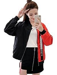 (ニカ) レディース コート 春 秋 コート ジャケット ジャンパー ブルゾン 韓国風 長袖 ブルゾン 薄手 ブルゾン 原宿系 ストリート系 BF風 シンプル