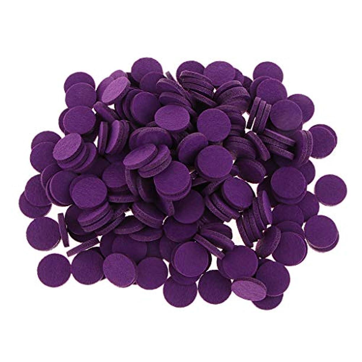 デンマークビルマ晴れFLAMEER ディフューザーパッド アロマパッド パッド 精油 エッセンシャルオイル 香り 約200個入り 全11色 - 紫の