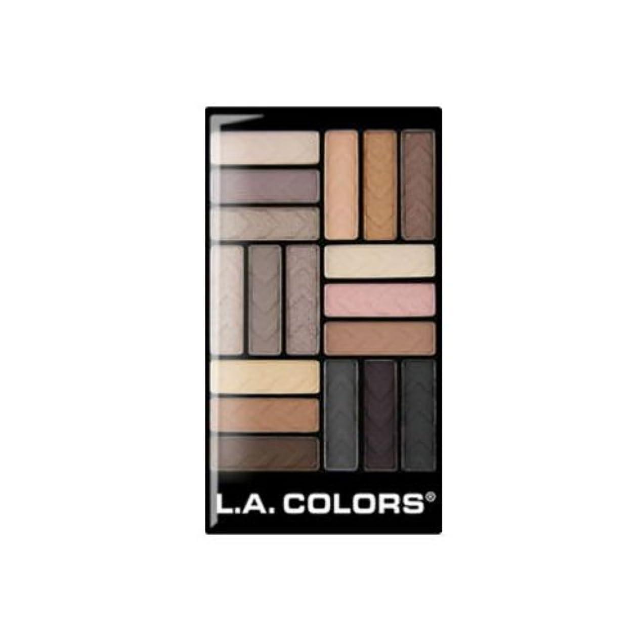 テレビ蛾誰か(3 Pack) L.A. COLORS 18 Color Eyeshadow - Downtown Brown (並行輸入品)