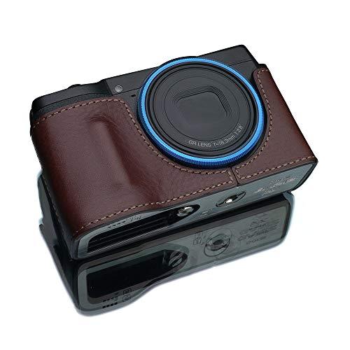 GARIZ RICOH GR III 用 本革カメラケース HG-GRIIIBR ブラウン