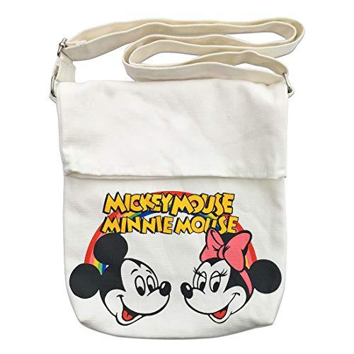 ディズニー サコッシュ ミッキーマウス ミニーマウス ホワイ...