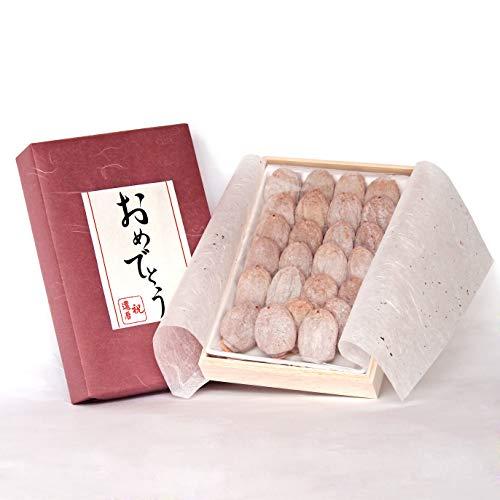 還暦祝い 還暦 プレゼント 市田柿 干し柿 木箱入 ギフト おめでとう メッセージ ラッピング (赤)