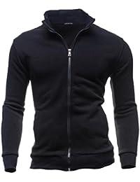 maweisong 男性がよいフルジップ立体スタンドカラースウェットシャツジャケット