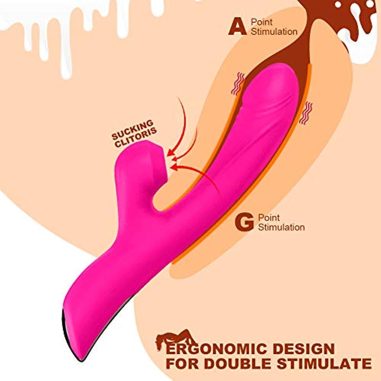 曲愛胆嚢ファミリー オムロン ハンディマッサージャー 電マ 電動マッサージ器 10種ダブルヘッド振動 モード 42度加熱 自由に曲げられる (バラ色)