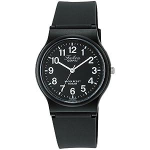 [シチズン キューアンドキュー]CITIZEN Q&Q 腕時計 Falcon (フォルコン) アナログ表示 10気圧防水 ブラック×ホワイト VP46-854