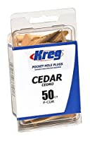 Kreg P-CDR Solid Wood Pocket Hole Plugs, Cedar, 50-Pack by Kreg