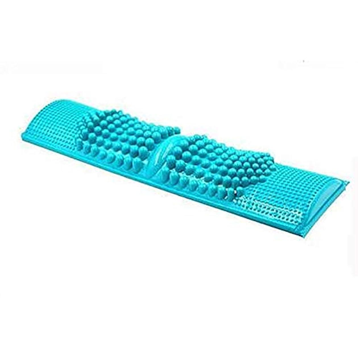 境界摩擦ママZXCP 簡単に健康維持 BIGサイズ 足つぼマッサージ 【足つぼ対応表付き】 足 踏み 足裏 刺激 血行促進 (ブルー)
