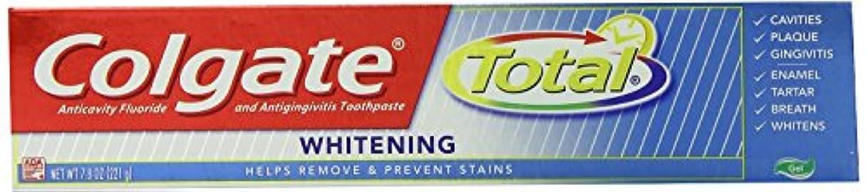 擬人スプレー供給Colgate コルゲートTotal Whitening歯磨き粉221g x 4個パック