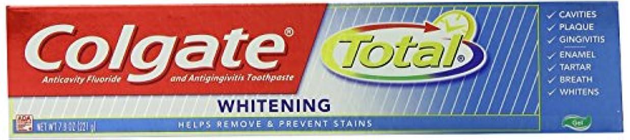つかむ運動たるみColgate コルゲートTotal Whitening歯磨き粉221g x 4個パック
