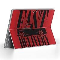 Surface go 専用スキンシール サーフェス go ノートブック ノートパソコン カバー ケース フィルム ステッカー アクセサリー 保護 英語 車 レトロ 011192
