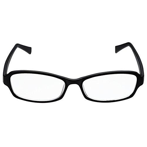 エレコム ブルーライトカットメガネ 日本製 クリアレンズ ワイドスクエア 男女兼用 OG-YBLC-S01BK