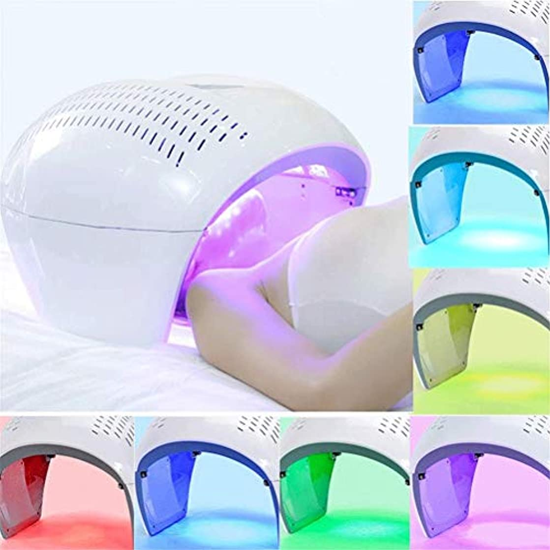 論争的起きて義務付けられた美容機、ホームサロンの使用のためにフェイシャルマスクセラピーライトポータブル光子PDTにきび治療しわ除去アンチエイジング肌の若返りスキンケア美容機LED - 7色の