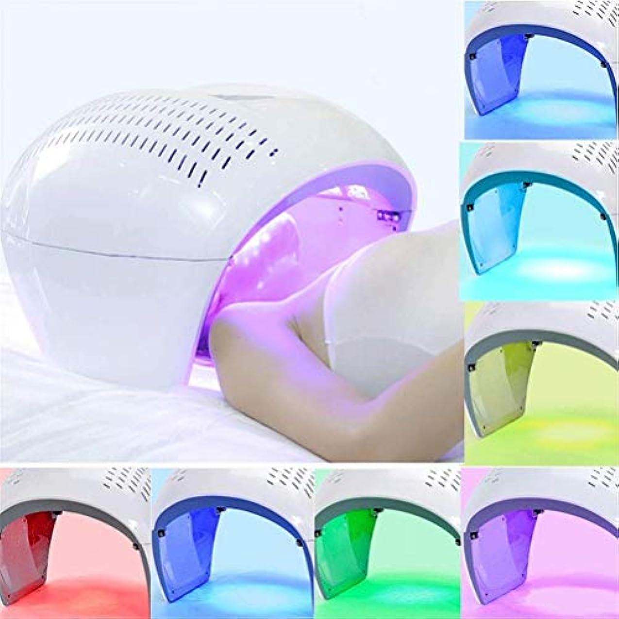 銅新鮮な賞美容機、ホームサロンの使用のためにフェイシャルマスクセラピーライトポータブル光子PDTにきび治療しわ除去アンチエイジング肌の若返りスキンケア美容機LED - 7色の