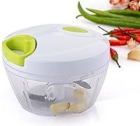 (Arugula Color) - Passion Manual Food Chopper Powerful Hand Held Vegetable Chopper/Mincer / Blender to Chop Fruits, Vegetables, Nuts, Herbs, Garlics for Salsa, Salad (Arugula Colour)
