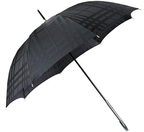 (バーバリー)BURBERRY トーナルチェック がお洒落な レディース ジャンプ 雨傘 (長傘)/ 黒 (手元黒)