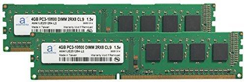 Adamanta 8GB ( 2x 4gb )メモリアップグレードDell Vostro 430デスクトップPC ddr31333MHz pc3–10600cl9UDIMM 2rx81.5V RAM