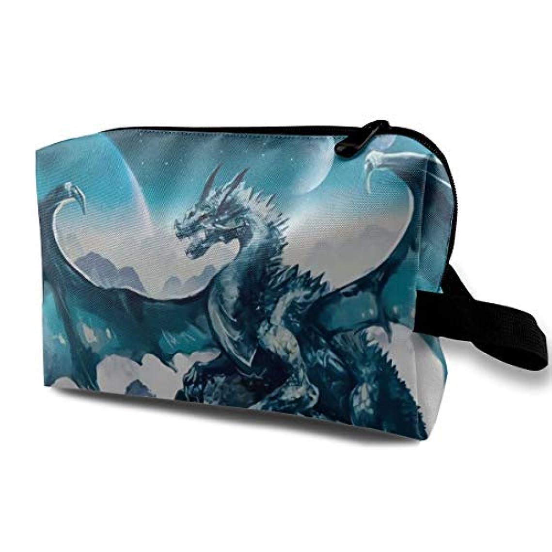 スーツケース成熟ラベンダーBlue Ice Dragon 収納ポーチ 化粧ポーチ 大容量 軽量 耐久性 ハンドル付持ち運び便利。入れ 自宅・出張・旅行・アウトドア撮影などに対応。メンズ レディース トラベルグッズ