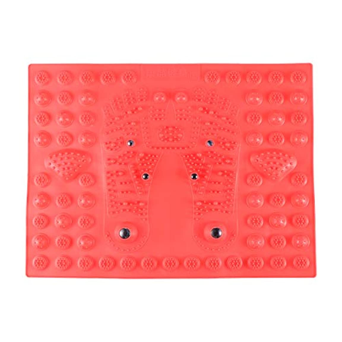 SUPVOX フットマッサージマット指圧リラクゼーションリフレクソロジーマット磁気療法フィートマット(レッド)