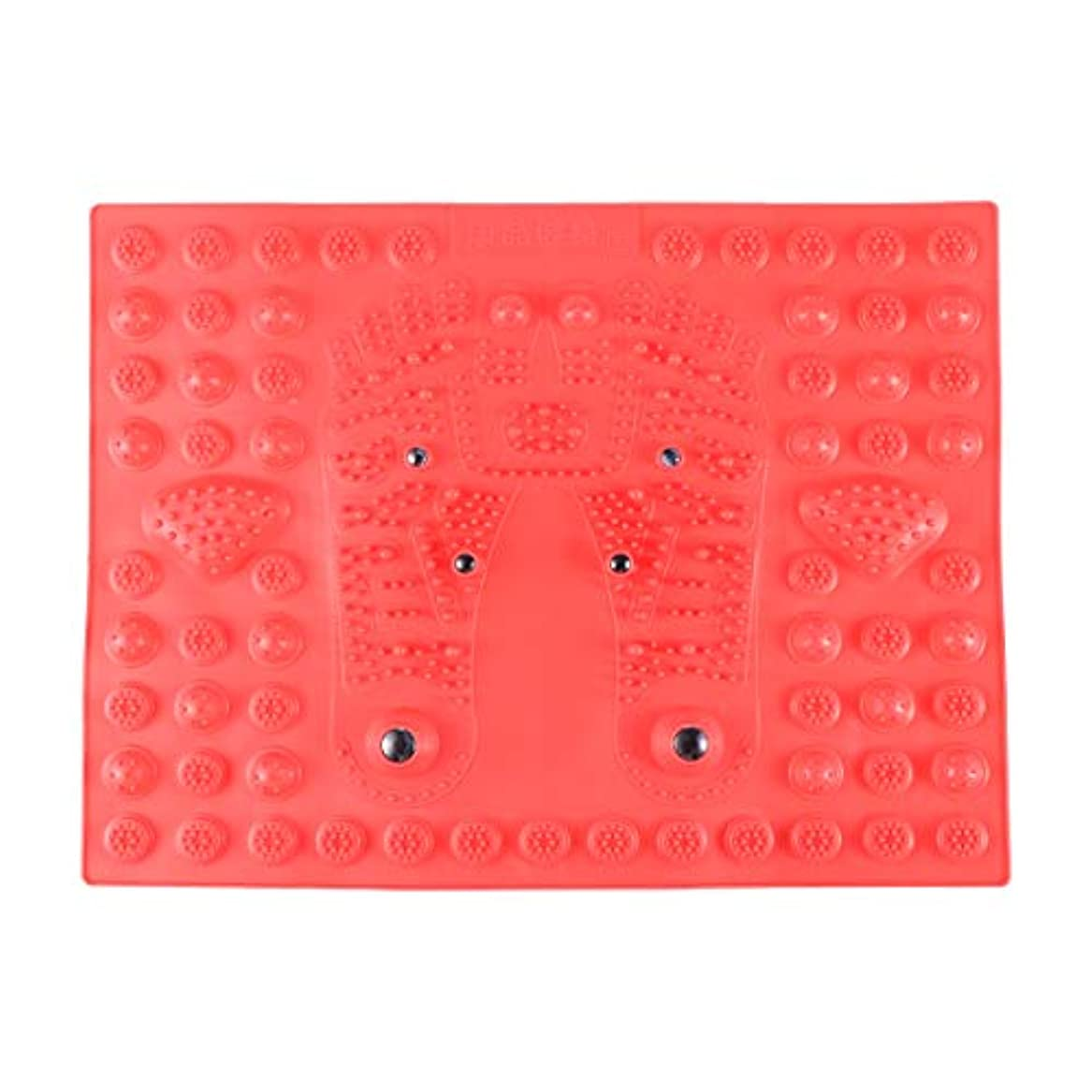 リスト大使館ぼんやりしたHealifty 指圧フットマットフット磁気療法マッサージャーガーデンマッサージパッド(レッド)