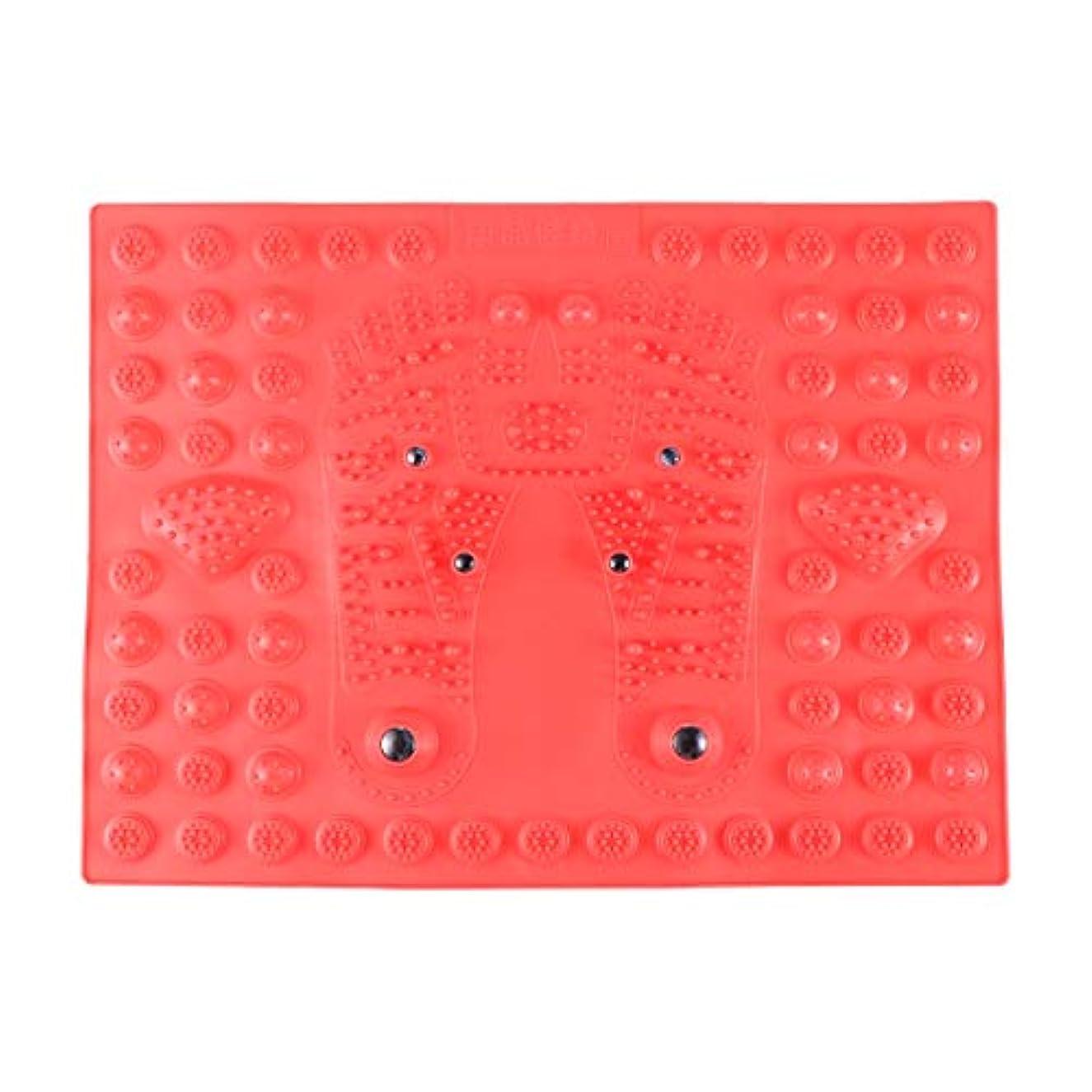 キャンディー小さな欺くHealifty 指圧フットマットフット磁気療法マッサージャーガーデンマッサージパッド(レッド)
