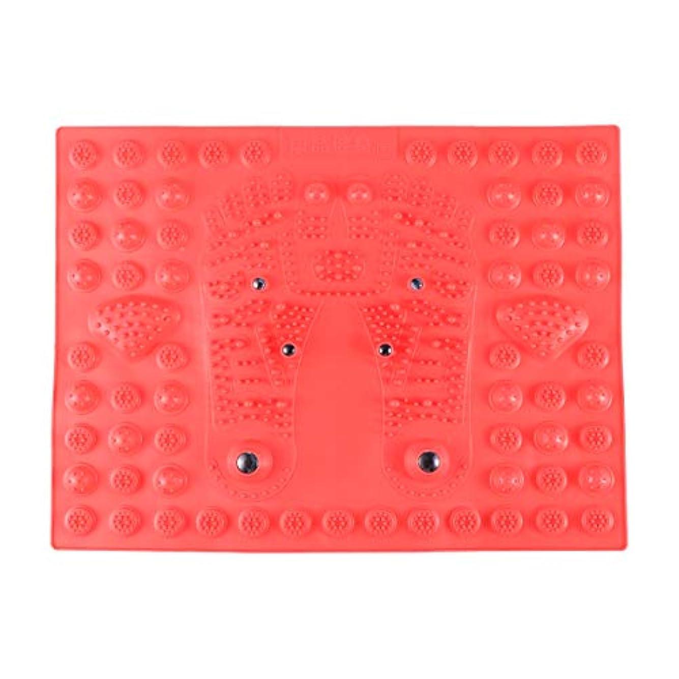 中性フィードバックパーティションSUPVOX フットマッサージマット指圧リラクゼーションリフレクソロジーマット磁気療法フィートマット(レッド)