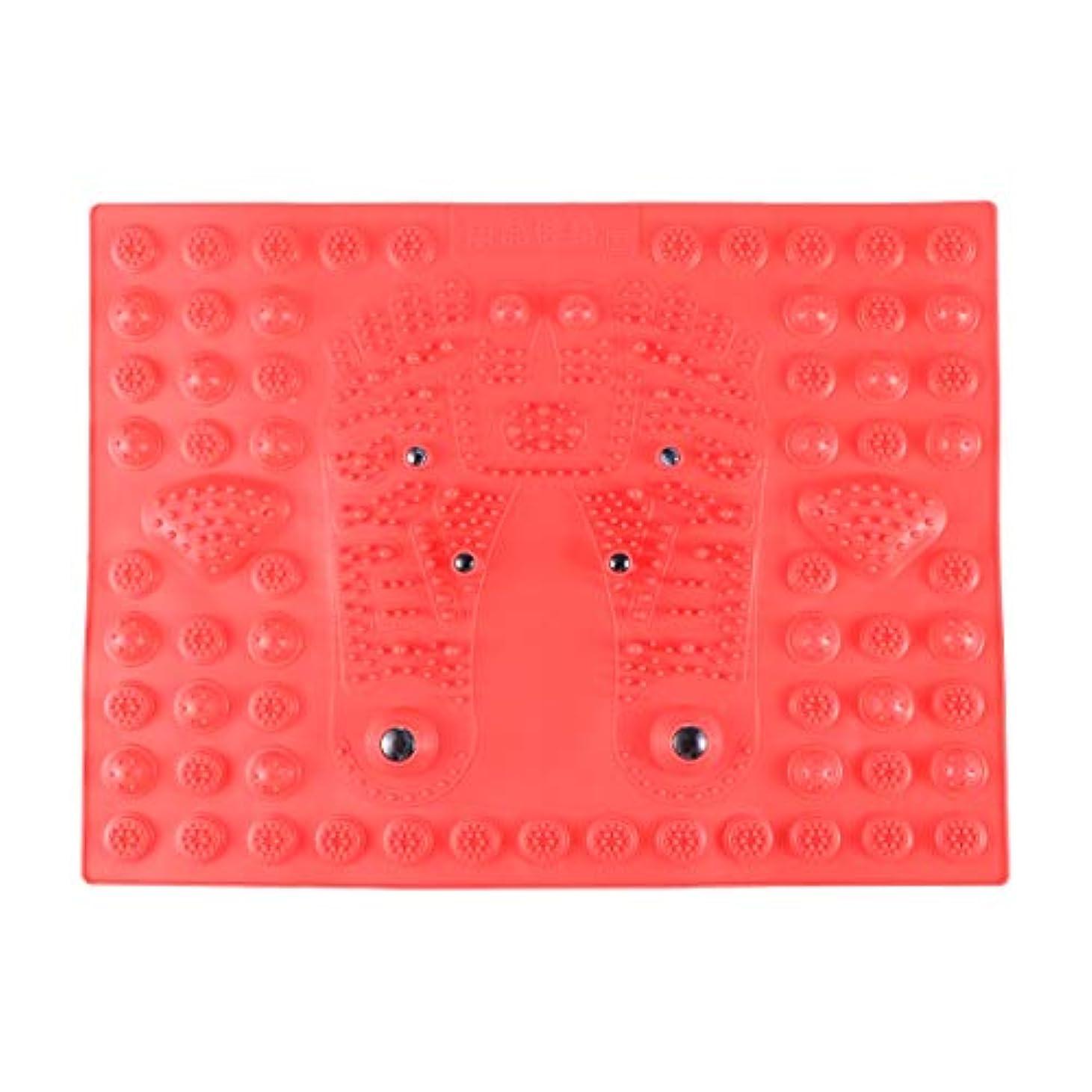 伝記首尾一貫した調和のとれたSUPVOX フットマッサージマット指圧リラクゼーションリフレクソロジーマット磁気療法フィートマット(レッド)