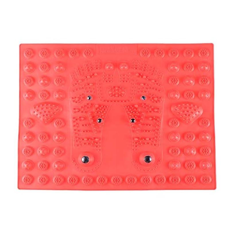 スロー感じる逸脱SUPVOX フットマッサージマット指圧リラクゼーションリフレクソロジーマット磁気療法フィートマット(レッド)