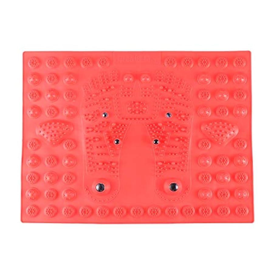 顕著ヒューマニスティック特別にHealifty 指圧フットマットフット磁気療法マッサージャーガーデンマッサージパッド(レッド)