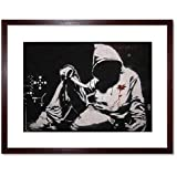 Banksy Hoodie Graffiti Street Art Framed Wall Art Print バンクシー落書き通り壁