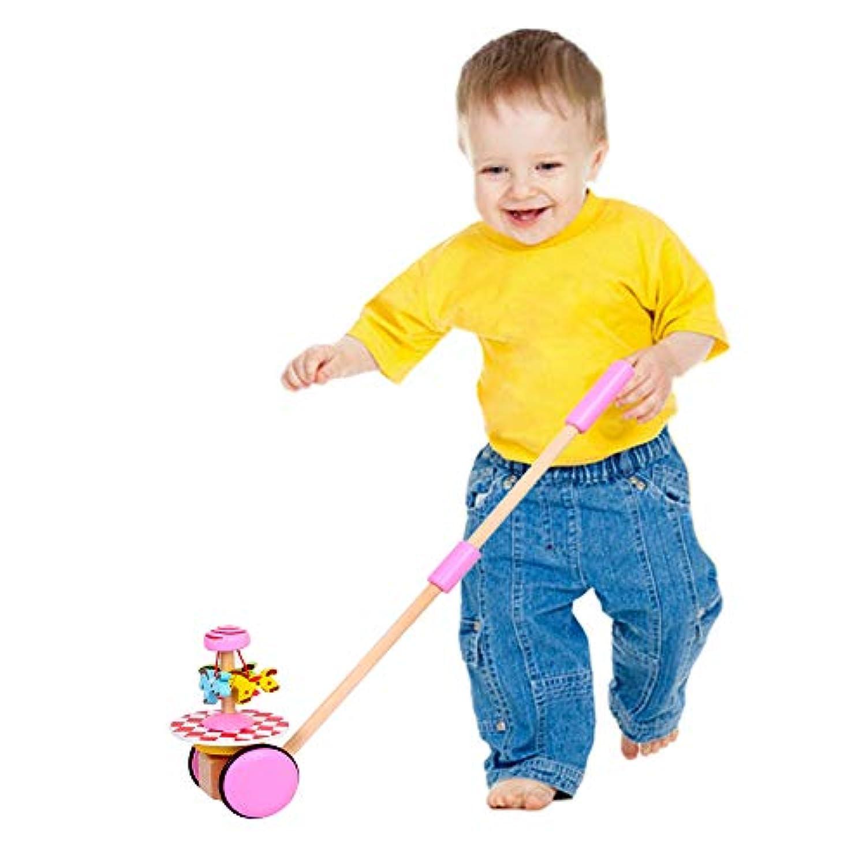 O-Toys 赤ちゃん ウォーカー 木製 プッシュ&プル ウォーキング おもちゃ 車輪付き 男の子 女の子 幼児 就学前 キッズ 18ヶ月以上 one size マルチカラー 1