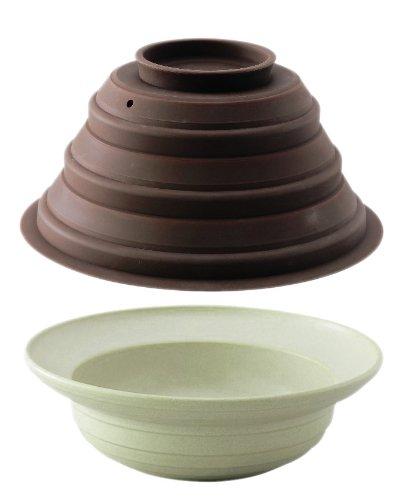 蒸温菜鍋 M グリーン×ブラウン