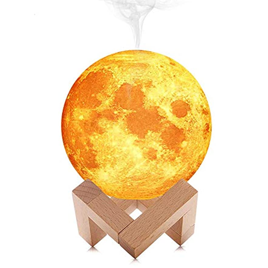 強い肥沃なメロドラマティックBarbella Air Humidifier 3D Moon Lamp Light Diffuser Aroma Essential Oil USB Ultrasonic Humidificador Night Cool...