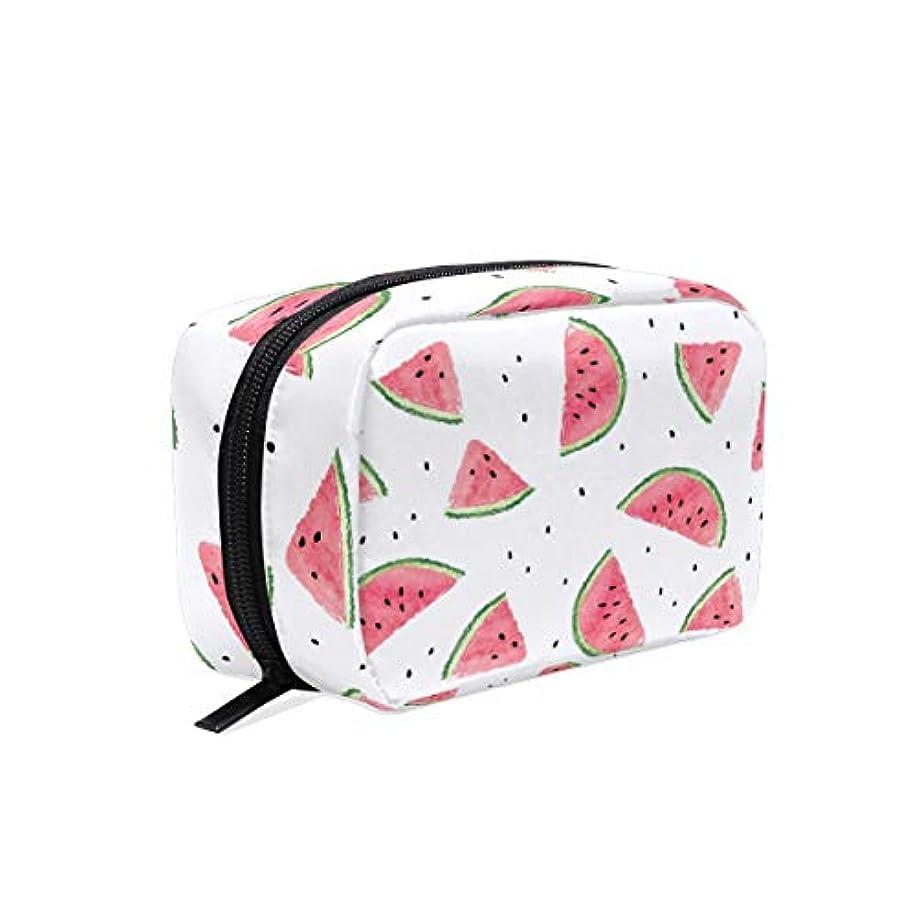 明快悪意のある無礼にUOOYA おしゃれ 化粧ポーチ スイカ フルーツ柄 Watermelon 軽量 持ち歩き メイクポーチ 人気 小物入れ 収納バッグ 通学 通勤 旅行用 プレゼント用