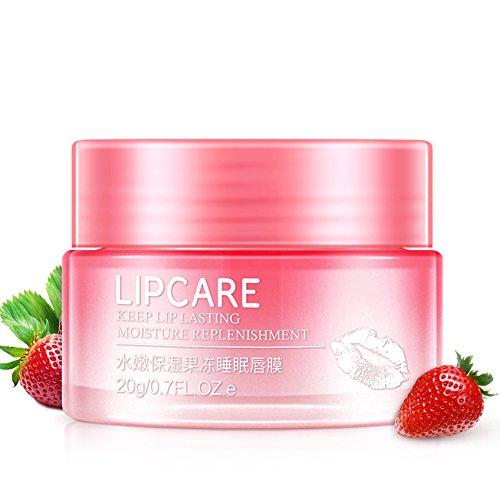 OSHIDE ストロベリー リップパック 唇膜 リップマスク リップクリーム 小じわ薄め 保湿 うるおい スーパーモイストキープ リップケア リップラップシート 無香料 100g