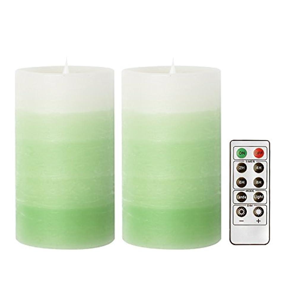 化学大声で自治GiveU(家印象) LEDキャンドル ピラーキャンドル 照明 タイマー機能付き 電池付き 便利 リモコン対応 明るさ調整可能 フェイクキャンドル コバルトプルー 2個セット