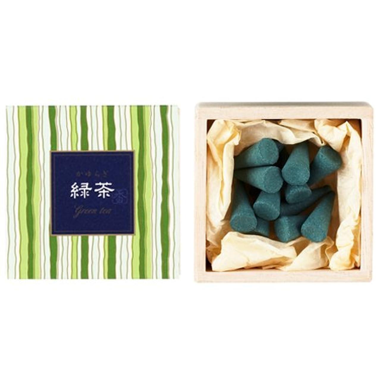 初期の温かいブラウザNippon Kodo – Kayuragi – グリーンティー12 Cones