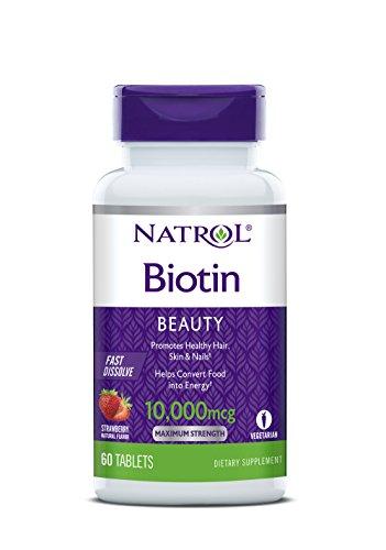 Biotin 10,000mcg Fast Dissolve, Pack of 4 by Natrol