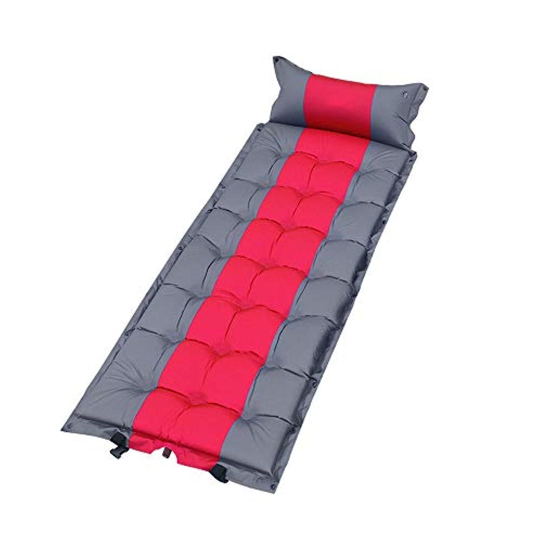 象第九もの屋外シングル自動インフレータブルクッションキャンプピクニックエアマットレスランチ休憩テントスリーピングマット水分パッド肥厚マット、190×66×5センチ (Color : C)