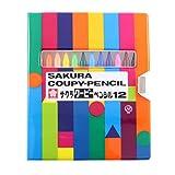 サクラクレパス 色鉛筆 クーピー ソフトケース 12色 5個 FY12-R1(5)